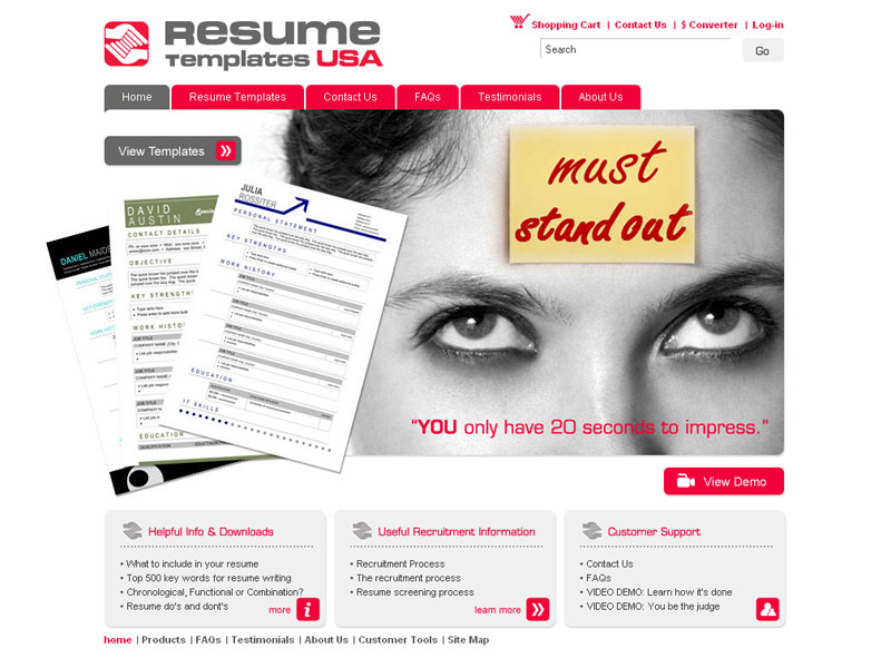 resumetemplates usa.com